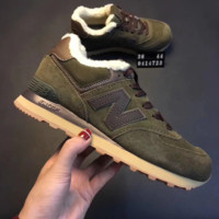 New balance Fashion Casual Thick Running Sport Shoes Sneakers Army Green G-XYXY-FTQ