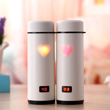 Intelligent Temperature Display Double Wall Thermal Water Bottle Stainless Steel Vacuum Flasks