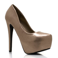 Shine-On-Platform-Pumps BRONZE - GoJane.com
