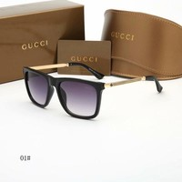 """Gucci"" Unisex Fashion All-match Square Frame Sunglasses Glasses Couple Accessories"