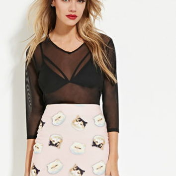 Eric + Lani Cat Print Skirt