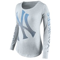 Nike New York Yankees Fade Top - Women's, Size:
