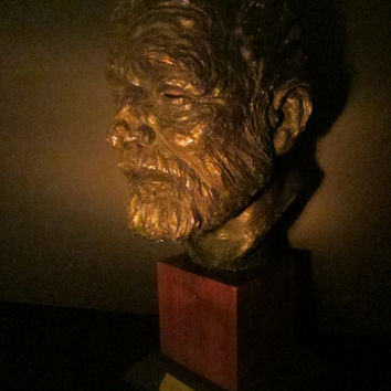 Ernest Hemingway Bust Signed Thomas Holland Dated 1966 Mahogany Stand