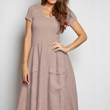 Inizio Linen Dress short sleeve