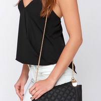 Grand Design Black Quilted Purse