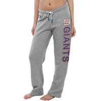 Women's New York Giants Nike Gray Rally Open Hem Rewind Sweatpants