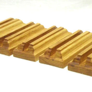 5X Business card holder, Wood Card Holder, Desktop Card Organizer,Wooden Card Stand
