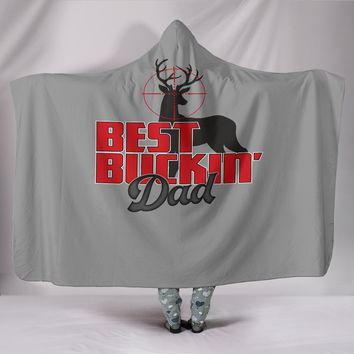 NP Best Buckin' Dad Hooded Blanket