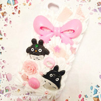 Custom Pink Decoden for Totoro phone case for iPhone by YYKawaii
