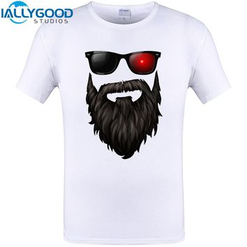 The Bearded Geeks Podcast Cool Design T-Shirt Men Summer Cotton Hipster Tops Funny Print Short Sleeve Tee Shirt Plus S