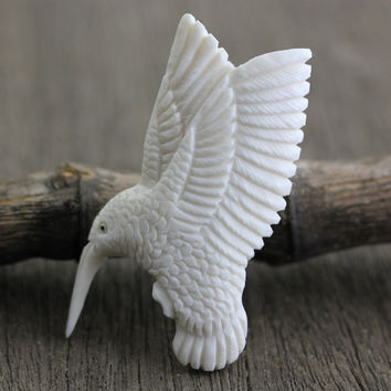 Humming Bird, Carved Bone
