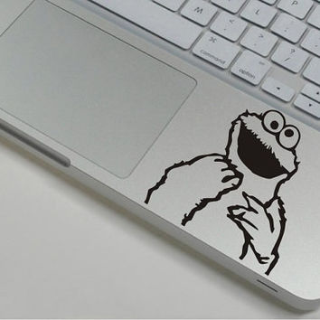 Cookie Monster - Macbook Wrist Decal Mac Wirst Sticker Macbook Decal macbook stickers  Macbook Pro  Air mac skin iPad Decal iPhone decal