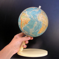 Soviet vintage globe Russian world globe students map maps travelling travel back to school