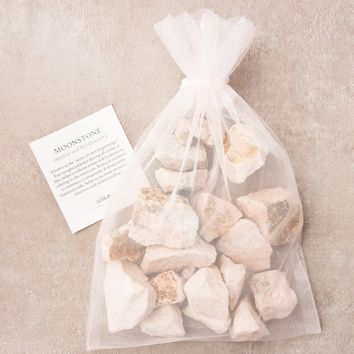 Peach Moonstone Crystal Healing Bath Stones