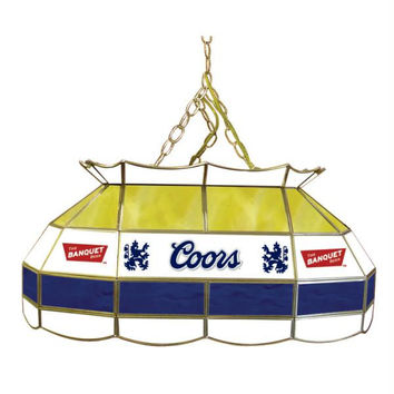 Coors Banquet 28 inch Stained Glass Pool Table Lamp