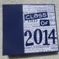 6x6 Class of 2014 Graduation Scrapbook Album in Blue