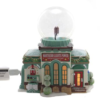 Department 56 House NORTHERN LIGHTS POWER Porcelain North Pole Series 6003112