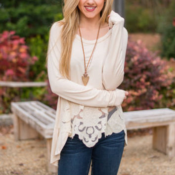 Creative Inspiration Top, Cream