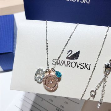 AUGUA Swarovski 2017 new Zodiac Cancer variable styling constellation necklace clavicle chain  85