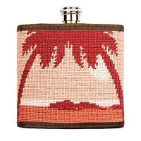 Palm Tree Needlepoint Flask in Sunset by Smathers & Branson
