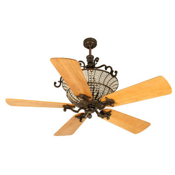 Craftmade K10879 Cortana Peruvian Ceiling Fan with 54-Inch Premier Distressed Oak Blades
