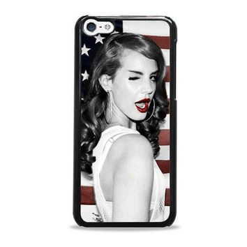 Lana Del Rey American Flag Supreme iPhone 5c Case