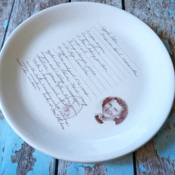 memorial gift plate with your loved ones recipe, perfect mothers day gift