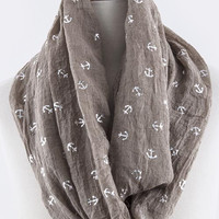 Anchor Lightweight Infinity Scarf