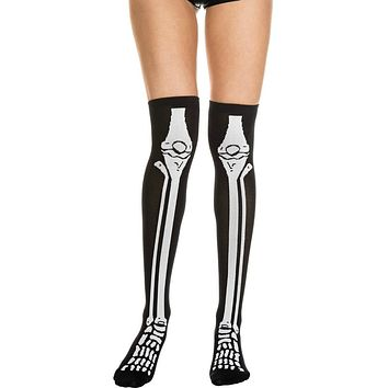 Black/White Skeleton Stocking