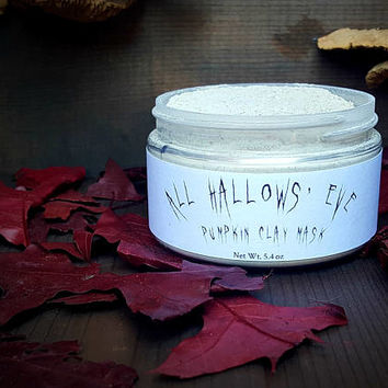 Pumpkin clay face mask, All Hallows' Eve, Halloween face mask, Antioxidant mask, Pumpkin powder, Bentonite Kaolin clay mask, Fall scented
