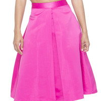 PRETTY ON PINK PLEATED MIDI SKIRT