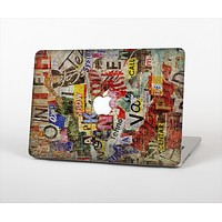 The Torn Newspaper Letter Collage V2 Skin Set for the Apple MacBook Air 11""