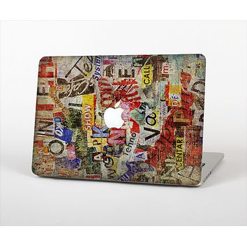 The Torn Newspaper Letter Collage V2 Skin Set for the Apple MacBook Air 13""