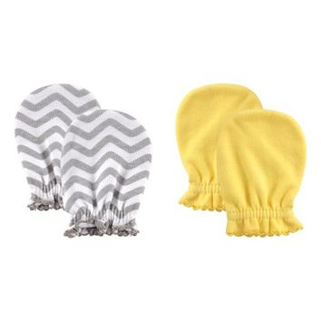 Yellow Two-Pair Hand Mitt Set - Infant