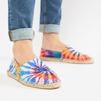 ASOS DESIGN Espadrilles In Multi Tie Dye at asos.com