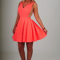 RESTOCK: Set In Stone Dress: Hot Coral