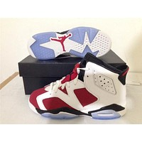 Air Jordan 6 red/white Basketball Shoes 36-40