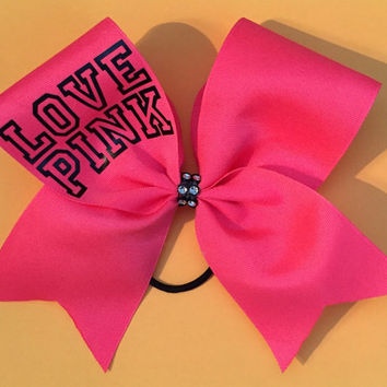 Cheer Bow Pink with Sparkle Center
