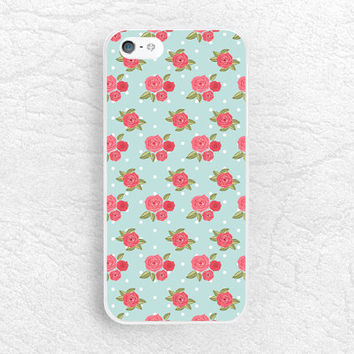 Vintage Mint Green floral phone case for iPhone 6 5 5c, Sony z1 z2 z3 compact, LG g3 nexus 5, HTC one M9 m8, Moto x Moto g, Samsung S6 -P33