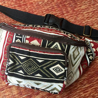 Aztec Fanny pack Hippie Festival Hip purse Boho Waist Pouch hip sack Gypsy Bohemian Belt bag Vegan gift Men women Burning man Coachella