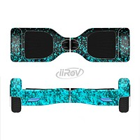 The Black and Turquoise Unfocused Sparkle Print Full-Body Skin Set for the Smart Drifting SuperCharged iiRov HoverBoard