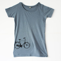 Womens BIKE SHIRT Womens Light Blue Alternative by naturwrk
