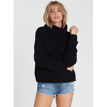 Billabong Women's On A Roll Chenille Sweater