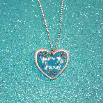 Disney Pixar Wreck It Ralph You're My Hero Cookie Pendant Necklace