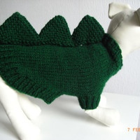 """small xs hand knit dog sweater 11.5"""" teacup chihuahua etc. dog sweater, small dog coat, xs dog clothing"""