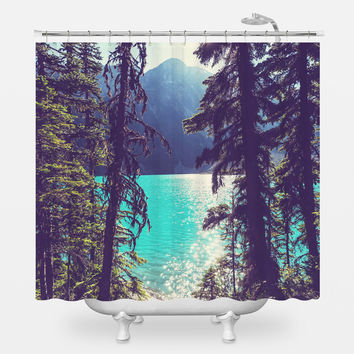 Lake Joffre Through the Trees Shower Curtain