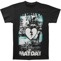 Mayday Parade Men's  Photo Collage T-shirt Black