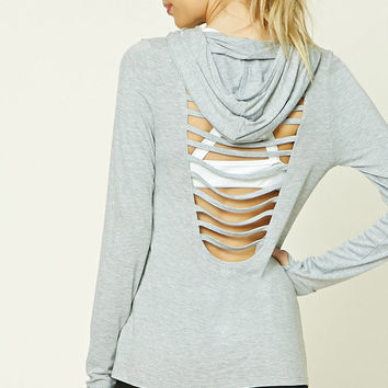 Active Hooded Ladder-Cutout Top
