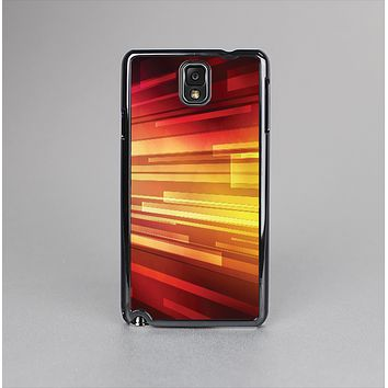 The Neon Orange 3D Rectangles Skin-Sert Case for the Samsung Galaxy Note 3