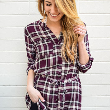 16th Street Plaid Tunic